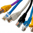 Cat 5 cables in multiple colors — Stock Photo