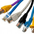 Cat 5 cables in multiple colors — Stock Photo #10478286