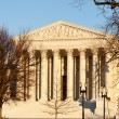 Royalty-Free Stock Photo: Winter trees frame Supreme court