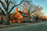 Old houses in Colonial Williamsburg — Stock Photo