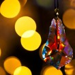 Cut glass decoration in front of xmas tree — Stock fotografie