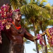 Duke Kahanamoku statue in Waikiki — Stock Photo