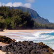 Lumahai beach in Kauai — Stockfoto