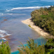 Ke'e beach on Kauai from trail — Stock Photo #8869635