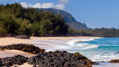 Lumahai beach in Kauai — Stock Photo