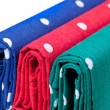 Red, blue and green handkerchiefs — Stockfoto