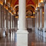 Columns of Library Congress in Washington DC — Stock Photo