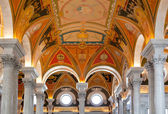 Ceiling of Library Congress in Washington DC — Stock Photo