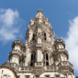 Tower of Brussels City Hall in telephoto shot — Stock Photo