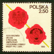 POLAND - CIRCA 1980: The stamp printed in Poland shows the stamp of tax collection, circa 1980. - Stock Photo