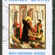 POLAND - CIRCA 1990: A stamp printed in Poland shows picture Mikolay Haberschrack circa 1990. - Stock Photo