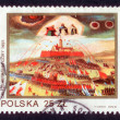 Foto de Stock  : POLAND - CIRC1982: stamp printed in Poland shows defense of JasnGorin 1655 circ1982