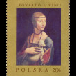"Circa Poland  - Leonardo da Vinci, ""Lady with the Ermine"" - Stockfoto"