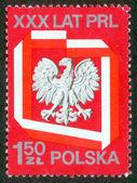 Poland stamp with Polish Eagle. — Stock Photo