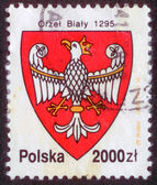 POLAND - CIRCA 1992: The stamp printed in Poland shows the stamp of tax collection, circa 1992. — Stockfoto