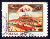 POLAND - CIRCA 1982: A stamp printed in Poland shows The defense of Jasna Gora in 1655 circa 1982 — Stock Photo