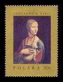 "Circa Poland - Leonardo da Vinci, ""Lady with the Ermine"" — Stock Photo"