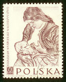 POLAND - CIRCA 1959: A stamp printed in Poland shows picture Stanislaw Wyspianski circa 1959. — Stock Photo