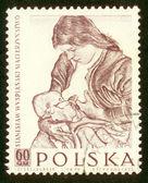 POLAND - CIRCA 1959: A stamp printed in Poland shows picture Stanislaw Wyspianski circa 1959. — Stock Photo