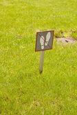 Geen wandelen op gras — Stockfoto