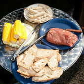 Garden grilling — Stock Photo