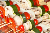 Vegetable Kabobs — Stock Photo
