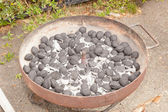 Charcoal briquettes — Stock Photo