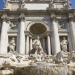 Trevi fountain tourism — Stock Photo