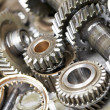 Close-up of automobile engine gears — Stock Photo #10108298