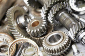 Close-up of automobile engine gears — Foto Stock