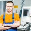 Stock Photo: Worker at tool workshop