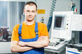 Worker at tool workshop — Stock Photo