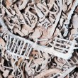 Lead scrap materials recycling backround — Stock Photo