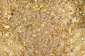 Brass metal scrap materials recycling backround — Stock Photo