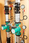 Heating system Boiler room equipments — Stockfoto