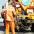 Asphalt patching roadworks — Stock Photo #10429238