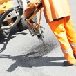 Asphalt patching roadworks — Stock Photo #10429262