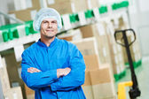 Medical warehouse worker — Stock Photo