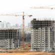 Construction site with tower cranes — Stock Photo #10460142