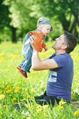Father playing with child boy — Stock Photo