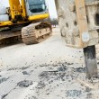 Asphalt Road repairing works with hydrohammer — Stock Photo
