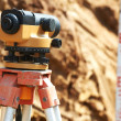 Surveyor equipment outdoors - Stock Photo