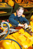 Experienced industrial assembler workers — Stock Photo