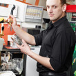 Restaurant manager bartender mat work place — Stock Photo #8028402