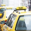 Stock Photo: Yellow taxi cab cars