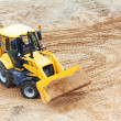 Excavator Loader with backhoe works — Stock Photo #8789552