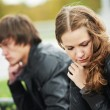 Stock Photo: Young couple in stress relationship