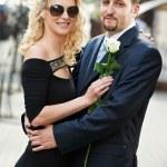 男人和女孩约会 — 图库照片