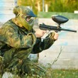 Man paintball player — Stock Photo #8879636