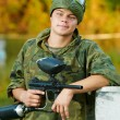 Man paintball player — Stock Photo #8879746
